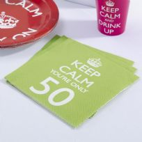 Keep Calm You're Only 50 Napkins (20)